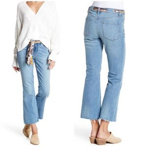 Free People Belt Out Crop Bootcut Jeans